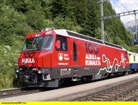 """SWR Fernsehen EISENBAHN-ROMANTIK FOLGE 527, """"Albula-Bahnkarussell - jodelnde Loks auf rhätischen Gleisen"""", am Montag (18.08.14) um 14:15 Uhr. Die Jubiläums-Lokomotive """"100 Jahre Albula"""". – © SWR/Bettina Bansbach"""