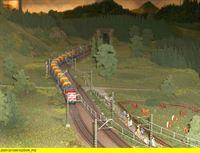 """SWR Fernsehen EISENBAHN-ROMANTIK FOLGE 586, """"Die Schwarzwaldbahn en Miniature"""", am Dienstag (13.05.14) um 14:15 Uhr. Modell: Güterzug vor Triberg.. – © SWR/Schweitzer"""