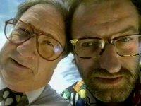 Redakteur Gottfried Schwarz (l.) und Autor/Regisseur/Cutter Helmut Zenker (r.)