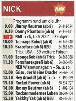 Das Programm des ersten Samstags, 17. September 2005