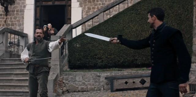 Philippe (James Purefoy) fordert Matthew (Matthew Goode) zum Duell.