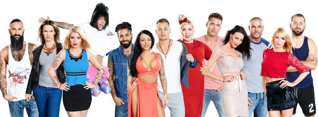 """Die Bewohner der vorerst letzten deutschen """"Big Brother""""-Staffel im Jahr 2015"""