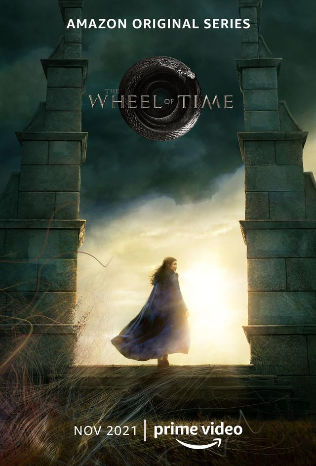 """Poster zu """"The Wheel of Time"""" mit Rosamund Pike als Moiraine vom amerikanischen Prime Video."""