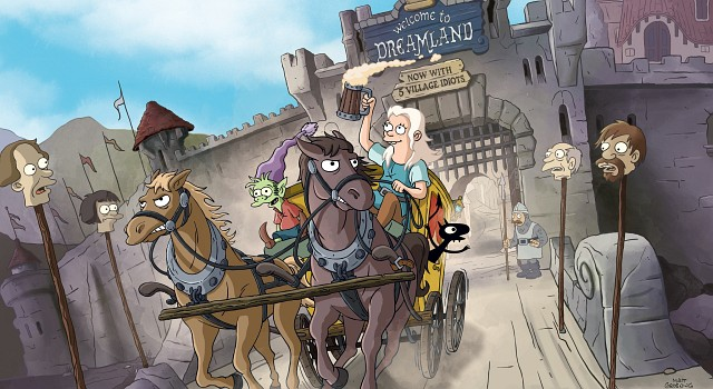 Die Serie liefert, so ist man das von Matt Groening gewohnt, verspielten Witz im Bild, der immer wieder zum Pausieren anregt, um die Texte zu lesen.