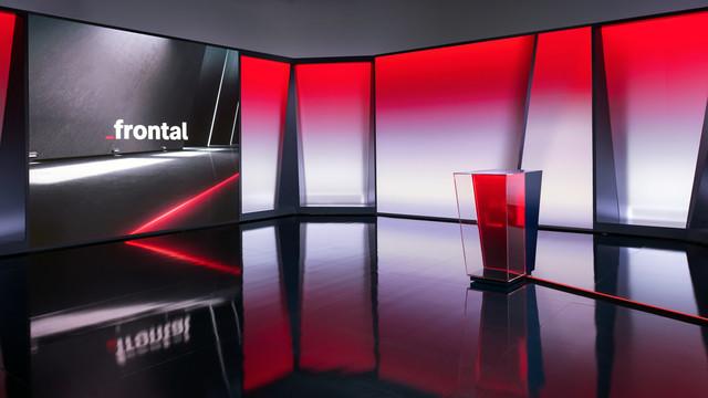"""Ein Blick ins neue """"frontal""""-Studio, das am Dienstag Premiere feiert."""
