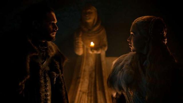 Jon (Kit Harington) erzählt Daenerys (Emilia Clarke) die Wahrheit über seine Herkunft.