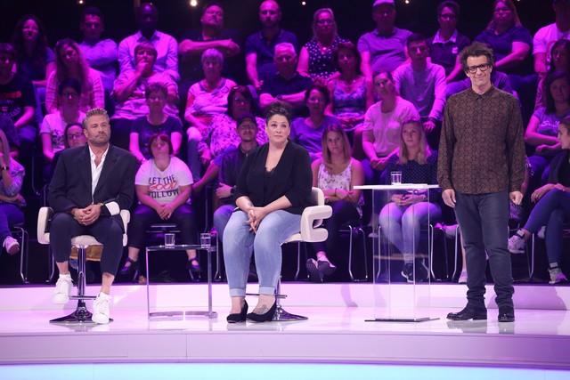Sasha, Nicole und Moderator Daniel Hartwich
