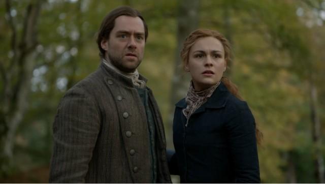 Wo sind Brianna (Sophie Skelton) und Roger (Richard Rankin) gelandet?