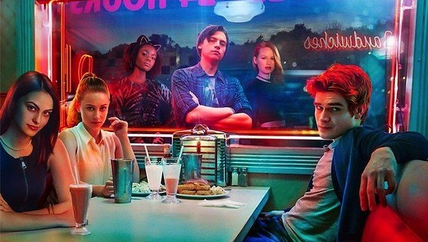 "Die jungen Charaktere aus ""Riverdale"" in passender Comic-Optic"