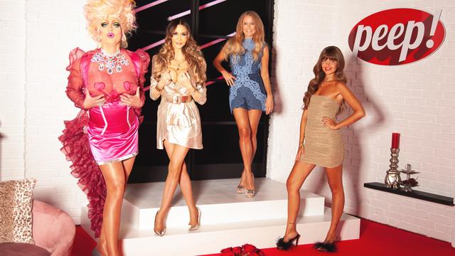 Olivia Jones, Dolly Buster, Jenny Elvers und Moderatorin Bonnie Strange (v. l. n. r.)