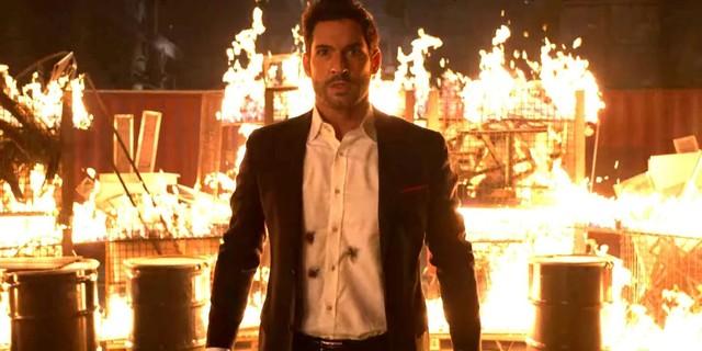 Mit feuriger Wut schreitet Lucifer (Tom Ellis) zur Befreiung seiner Tochter.