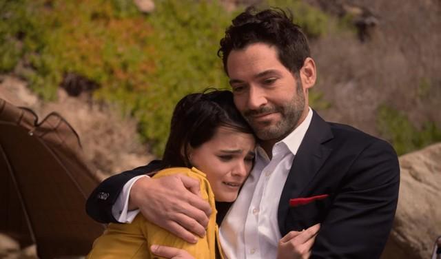 Rory (Brianna Hildebrand) und Lucifer (Tom Ellis) fürchten, dass das gerade gefundene Familienglück bald zerstört wird.