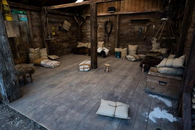 Hier erwartet die Bewohner der Verschlag für die Nacht.