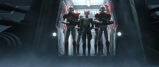 Admiral Tarkin mit seinen Leibwächtern