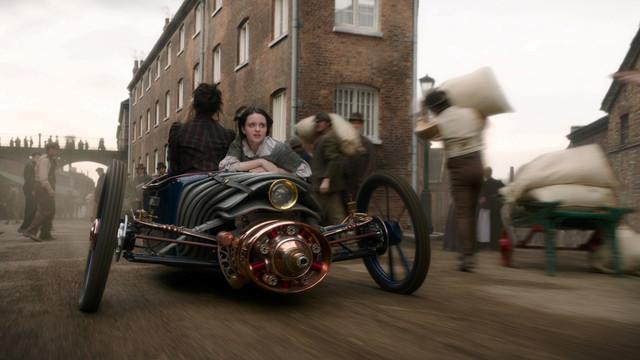 Könnte auch von 'Q' stammen: Fluchtauto im Jahr 1899...