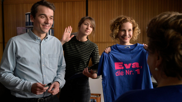 Die Mitarbeiter des Gleichstellungsbüros: Philipp, Yvonne und Renate
