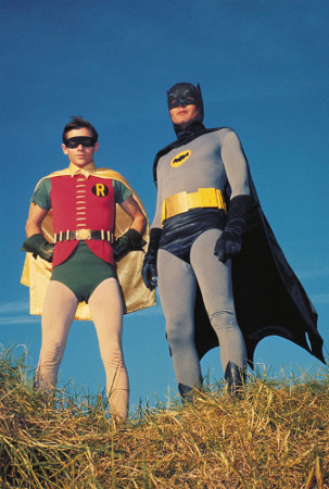 Robin (Burt Ward) und Batman (Adam West)