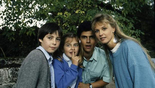 Die jungen Rombachs: Peter (Nikolai Bury), Rica (Nicole Schmid), Markus (Michael Wolf) und Andrea (Katharina Köhntopp)