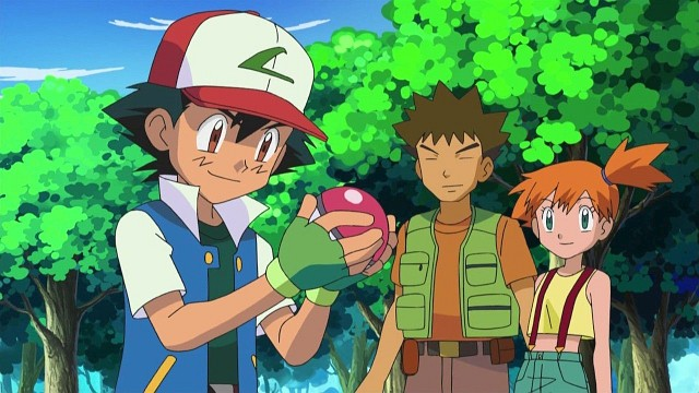 Ash, Rocko und Misty - das Dreiergespann der ersten Staffeln