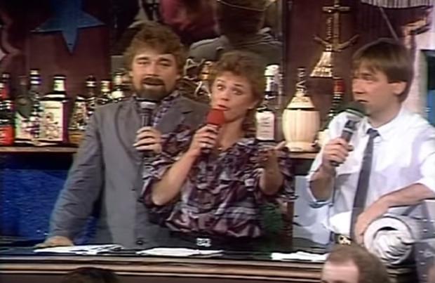 """Jürgen von der Lippe, Marijke Amado und Frank Laufenberg im """"WWF Club"""""""