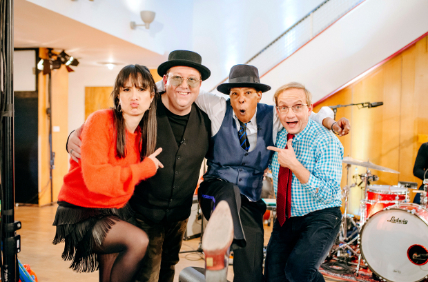 Stephanie Stumph mit Sebastian Krumbiegel, Marla Glen und Wigald Boning